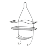 Picture of 3 TIER WITH HOOKS CHROME SHOWER CADDY