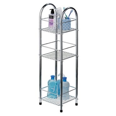 Picture of 3 TIER CHROME STORAGE STAND BATHROOM UTILITY EN SUITE ROOM