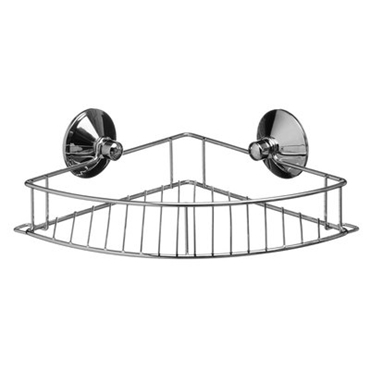 Picture of SUCTION FIXING CHROME FINISH CORNER CADDY RACK STORAGE UNIT