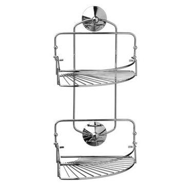 Picture of 2 TIER CHROME FINISH SUCTION FOLDING CORNER CADDY