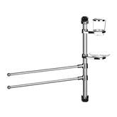 Picture of WALL MOUNTABLE BATH TOWEL RAIL SOAP HOLDER TOOTHBRUSH HOLDER