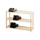 Picture of 3 TIER NATURAL WOOD SHOE RACK