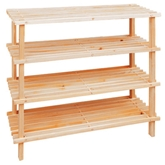 Picture of 4 TIER WOODEN SHOE RACK