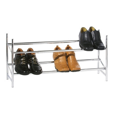 Picture of 2 TIER SHOE RACK EXTENDABLE/STACKABLE CHROME FRAME
