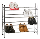 Picture of 4 TIER SHOE RACK EXTENDABLE CHROME FRAME