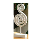 Picture of SWIRL SCULPTURE ORNAMENT ANTIQUE FINISH WHITE WOOD