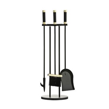 Picture of 3 PIECE COMPANION SET BLACK BRASS HANDLES
