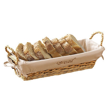 Picture of NATURAL WICKER WITH LINING BREAD BASKET