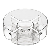 Picture of GLASS 5 SECTION SERVING DISH