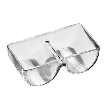 Picture of GLASS 2 SECTION SERVING DISH