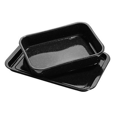 Picture of 2 PIECE ROASTING DISH SET BLACK ENAMEL