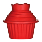 Picture of NEW HIGH QUALITY 3 PIECE RED SILICONE GIANT CUPCAKE SET KITCHEN RESTAURANT CAFE