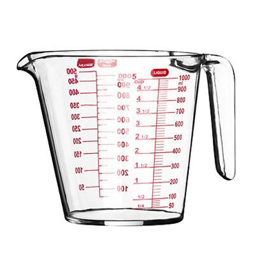 Picture of CLEAR PLASTIC MEASURING JUG - 1 LITRE