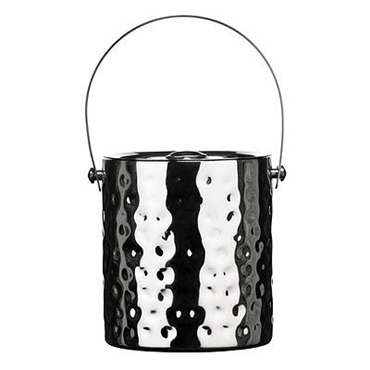 Picture of HAMMERED EFFECT STAINLESS STEEL ICE BUCKET WITH LID/HANDLE