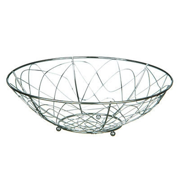 Picture of CHROME WIRE GEO ROUND FRUIT BASKET