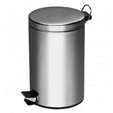 Picture of 5 LITRE MIRROR POLISHED STAINLESS STEEL PEDAL WASTE BIN