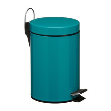 Picture of 3 LITRE TURQUOISE RUBBISH WASTE LITTER BIN