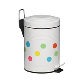Picture of 3 LITRE DOT DESIGN GALVANISED STEEL KITCHEN BATHROOM RUBBISH WASTE BIN