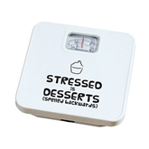 "Picture of ""STRESSED IS DESSERTS"" BATHROOM SCALE 120 KG"