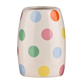 Picture of MULTI COLOURED DOT STONEWARE BATHROOM TUMBLER