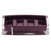 Picture of PURPLE ACRYLIC CRYSTAL DESIGN BATHROOM UTILITY SOAP DISH