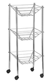 Picture of 3 Tier Wheel Chrome Storage Cart Easily Move-able Space Saver
