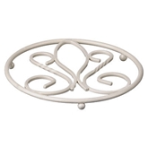 Picture of Circular Cream Metal De Lis Kitchen Pan Trivet  H2 x W18 x D18cm Table Top Saver