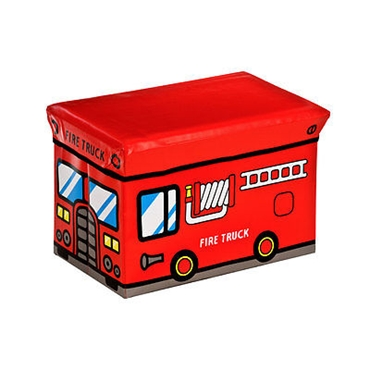 Picture of MDF/PVC CHILDRENS FIRE TRUCK DESIGN STORAGE BOX & SEAT