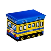 Picture of MDF/PVC CHILDRENS TRAIN DESIGN STORAGE BOX & SEAT