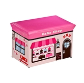 Picture of MDF/PVC CHILDRENS CAKE SHOP DESIGN STORAGE BOX & SEAT