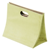 Picture of LIGHT GREEN FAUX SUEDE MAGAZINE BOX WITH WHITE STITCHING
