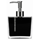 Picture of NEW BLACK ACRYLIC WITH CRYSTALS DESIGN LOTION DISPENSER