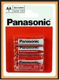 Picture of 4 Pack Panasonic AA R6 Size M 1.5v Batteries