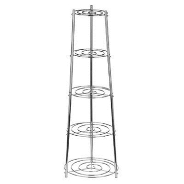Picture of 5 Tier Chrome Pan Stand Good Addition In Your Kitchen Keep Huge Amount In 1 Place
