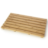 Picture of Bamboo Natural Wood Slatted Rectangular Duckboard