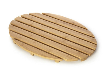 Picture of Bamboo Natural Wood Slatted Oval Duckboard