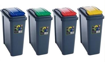 Picture of Plastic 25 Litre Kitchen Garden Waste Rubbish Recycle Bin 4 Colours