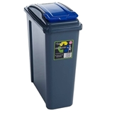 Picture of Blue Plastic 25 Litre Kitchen Garden Waste Rubbish Recycle Bin 4 Colours