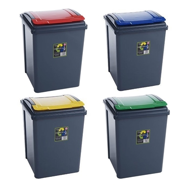Picture of Plastic 50 Litre Kitchen Garden Waste Rubbish Recycle Bin 4 Colours