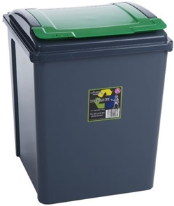Picture of Green Plastic 50 Litre Kitchen Garden Waste Rubbish Recycle Bin 4 Colours