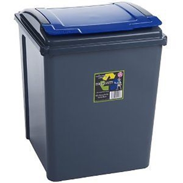Picture of Blue Plastic 50 Litre Kitchen Garden Waste Rubbish Recycle Bin 4 Colours