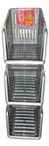 Picture of Silver Plastic 3 Tier Kitchen Stackers Storage Baskets 4 Assorted Colours