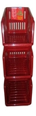 Picture of RED Plastic 3 Tier Kitchen Stackers Storage Baskets 4 Assorted Colours