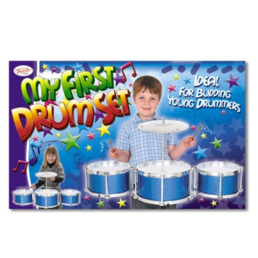 Picture of CHILDRENS DRUM KIT DRUMMERS STICKS CYMBALS & CHAIR SET