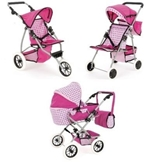 Picture of BABY DOLL SNUGGLES FOLDING PRAM PUSH CHAIR BUGGY 3 OR 4 WHEELS