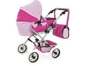 Picture of BABY DOLL SNUGGLES FOLDING PRAM PUSH CHAIR BUGGY 4 WHEELS