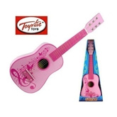 """Picture of MUSICAL WOODEN GUITAR INSTRUMENT 23"""" PINK"""