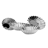 Picture of CAKE MOULDS 4 PIECE SET OVAL FLUTED TINPLATE DECORATIVE BAKE FOOD HOME KITCHEN