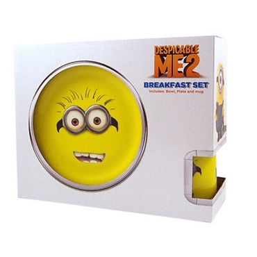 Picture of Despicable Me 2 Breakfast Set Includes Bowl Plate and Mug Kids Breakfast Set New