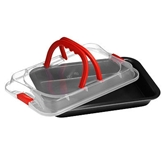 Picture of NON STICK PAN AND CARRIER MODERN STYLISH FOOD BAKE COOK STORE KITCHEN CRAFT NEW